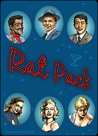 Rat Pack Playing Cards